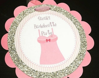 Bachelorette Party Door Sign, Pink and Gold