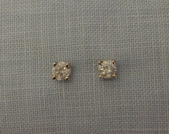 14kt Gold Diamond Studs