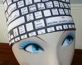 Text Talk  European Style  Surgical Scrub Cap with Toggle