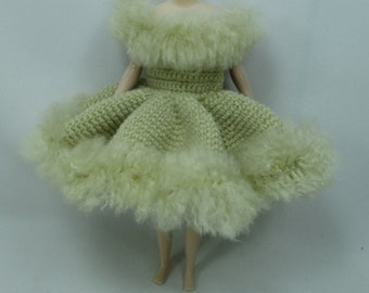 Handcrafted crochet knitting dress outfit clothes for Blythe doll # 200-29