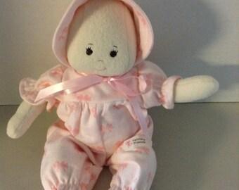 "A Faithful Friend Handmade Cloth Doll Soft Doll Baby Doll Washable Doll Baby Shower Doll First Doll 13"""