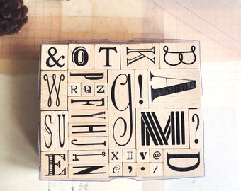 IRREGULAR alphabet rubber stamp A to Z [ discontinued ]