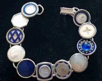 1920S Art Deco Cufflink Bracelet