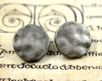 Metal Buttons - Irregular Retro Silver Color Metal Shank Buttons , 0.59 inch , 10 pcs