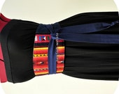 Hilltribe Patchwork Obi Belt, One of a Kind art to wear, Unique African Wrap Belt, Waist Cincher,  Tribal Corset Belt, B Modiste Handmade