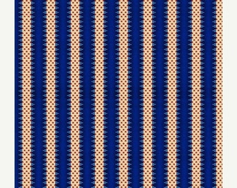 ON SALE Summer Festival Navy Blue Stripes Quilt Fabric by the 1/2 yard