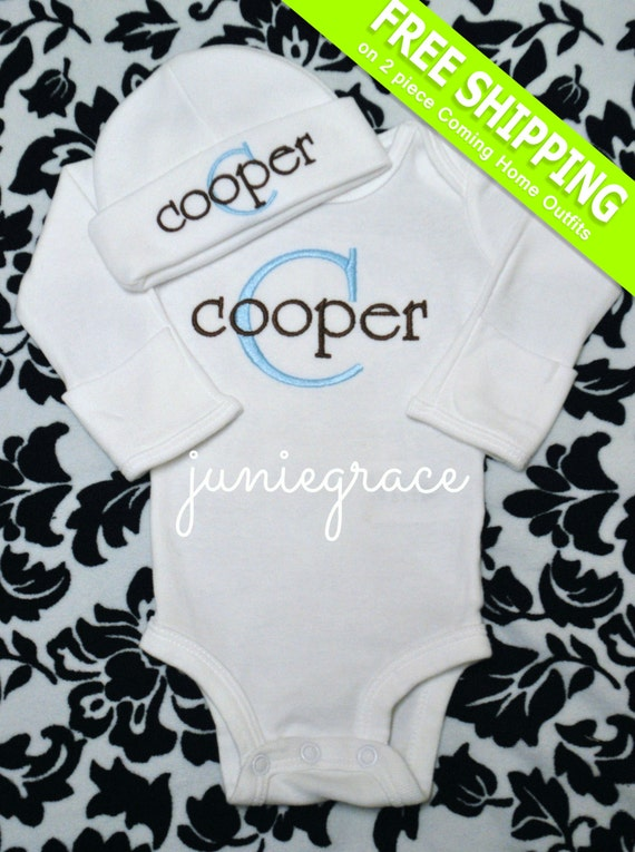 Personalized Baby Boy ing Home Outfit Baby Boy Clothes Take