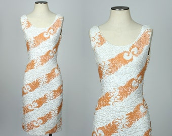 vintage GENE SHELLY dress • 1950s sequined bombshell wiggle dress