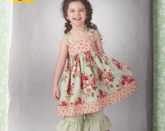 UNCUT Simplicity 1533 It's So Easy Pattern Girls Childs Dress & Pants Sizes 3-4-5-6-7-8