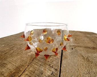 CLEARANCE: Glass vase, glass bowl, urchin vase, blowfish, modern vase, unusual vase, bud vase, centerpiece, arrangement,
