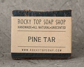 Pine Tar Soap -  All Natural Soap, Beard Soap, Handmade Soap, Cold Process Soap, Vegan Soap