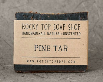 Pine Tar Soap -  All Natural Soap, Beard Soap, Handmade Soap, Cold Process Soap, Vegan Soap