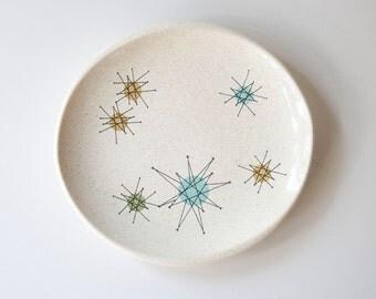 Vintage Atomic Franciscan Starburst Mid Century Modern Plates