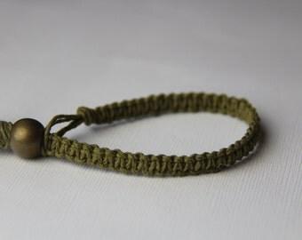 Olive Green Hemp Bracelet