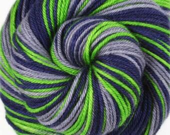 SEAHAWKS Superwash Merino/Nylon Hand-dyed Self-Striping DK weight yarn