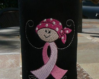 Breast Cancer Awareness - Bottle Cozy - I SURVIVED