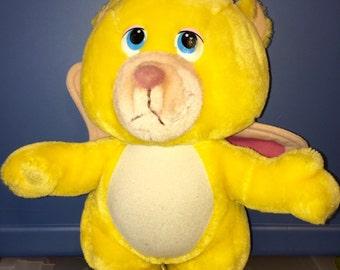 1984 Walt Disney productions Hasbro Softies Wuzzles full sized plush butter bear