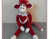 Hug me monkey PATTERN ONLY Immediate PDF Downlaod