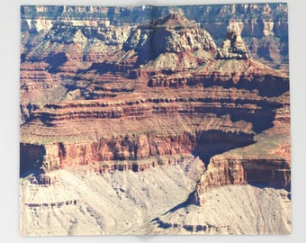 Southwest Throw Blanket - Grand Canyon Throw Blanket - Nature photography - Grand Canyon Photograph - Landscape Photo - Home Decor