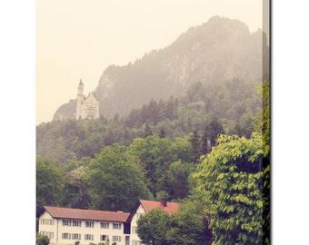 Wall Art Canvas - Large Canvas - Castle Canvas - Ethereal Canvas - Forest Canvas - Dorm Room Canvas - Scenic - Bavarian Art - 24 x 30 Canvas