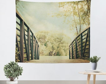 Dorm Tapestry nature wall hanging college decor dorm room tapestries Bridge to Paradise fine art photography home decor photo photography