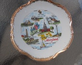 Vintage Souvenir Plate from Maryland