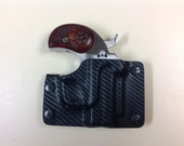 Black Carbon Fiber Kydex Retention Holster for a Bond Arms Derringer