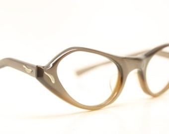 NOS Tan Cat Eye Glasses Unused vintage cateye frames eyeglasses NOS