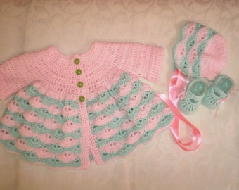 Easy Breezy Little Baby Coat, Hat and Shoes Set