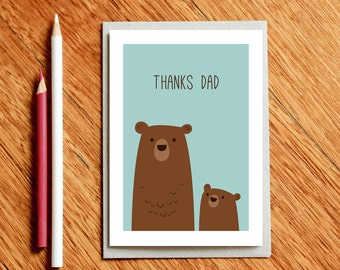 Christmas Dad Card, Father's Day Card, Card for Dad, Dad Birthday Card, Xmas Dad Card, Thanks Dad, Thank you Dad, Dad Gift, New Dad Card
