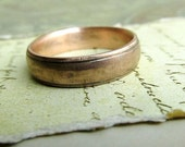 Rustic Gold Wedding Band, 14k Rose Gold, Comfort Fit, Handmade, Engraved, Oxidized Antique Patina... 5 x 2mm #jcmetalsmith