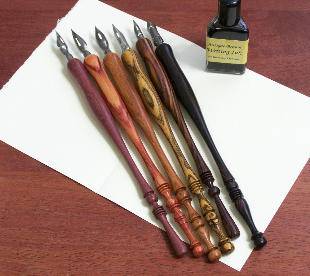 Hand Turned Wood Calligraphy Pen Dip Pen One Pen