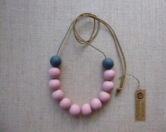 Steel & Berry Porcelain Bead Necklace Sample Sale