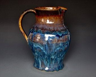 Blue Midnight Ceramic Pitcher Stoneware Pitcher Ceramic Pottery Jug A