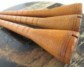 Vintage Wooden Beehive Bobbins - Textile Bobbins - Studio Decor - Quilting Sewing Studio Decor - Three in Lot