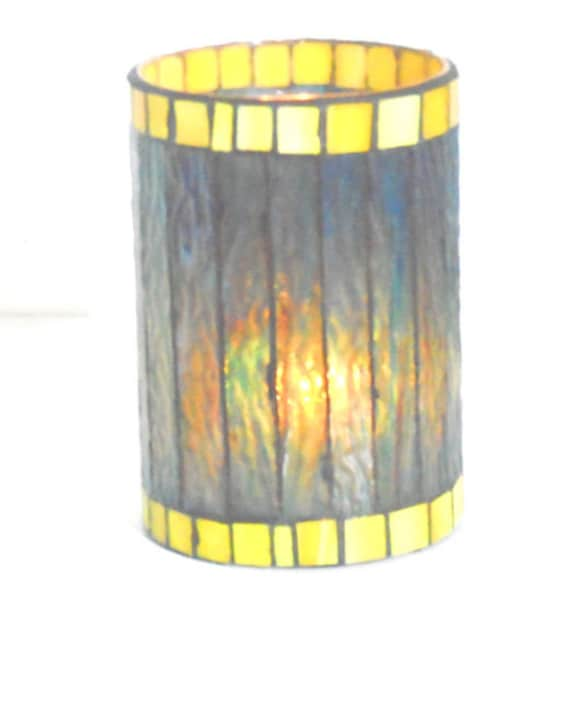 Stained Glass Coffee Table Book: Stained Glass Mosaic Table Top Candle Holder Coffee Table End