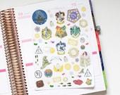 Harry Potter inspired Hand Drawn Decorative Life Planner Stickers, Perfect for Erin Condren, Kikki K, Plum Paper, Filofax