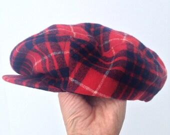 Vintage Wool Pendleton Hat - Newsbury- Plaid - Small- Mens - Kids