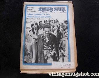 Jimi Hendrix Original Rolling Stone Magazine No. 34 1969 Bob Dylan Muddy Waters