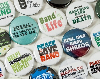 Band Buttons - Marching Band Bundle - Size One Inch - MBB 1