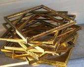 Set of 11 Vintage Gold Picture Frames & 1 Double Frame