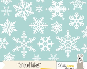 Snowflake Clip Art, Snowflake PNG clipart with Transparent Background, INSTANT DOWNLOAD, Snowflake Outlines, Small Business Use