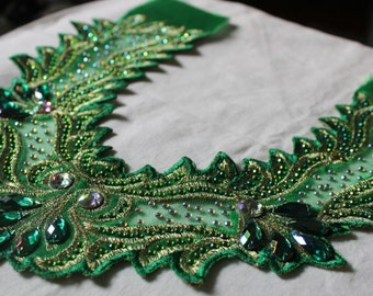 Green Lace aplique for dress