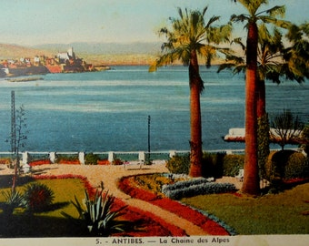 French Vintage Postcard - Antibes, France