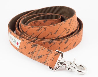 Arrows Dog Leash in Cinnamon
