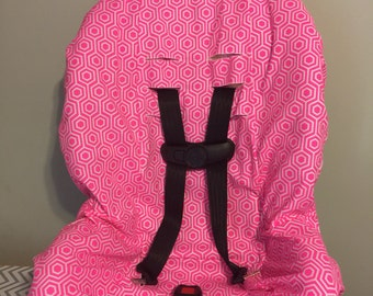 READY TO SHIP Neon Pink honeycomb geo pattern fabric carseat cover toddler