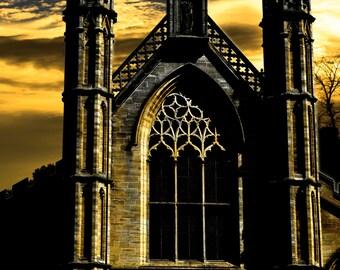 Photograph Print Dark Church Glasgow Creepy Building Horror Spooky Haunted House Chapel Urban City 6 x 4 Variations Available 6x4 7x5 8x10