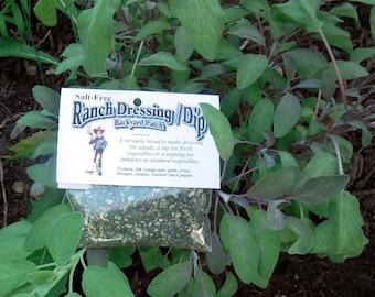 Salt-free Ranch Dressing Mix, Hand-blended Dry salt free Cooking Herb Mix, no salt, gluten free