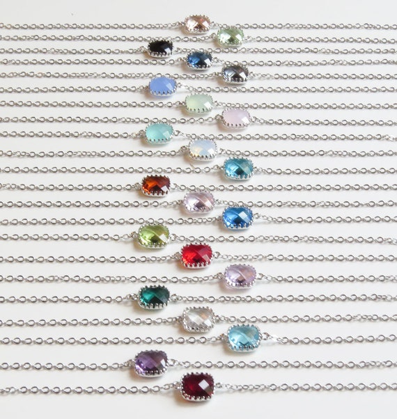 Birthstone Bracelet | Personalized Bracelet | Bridesmaids Bracelets | Bridal Jewelry | Personalized Jewelry