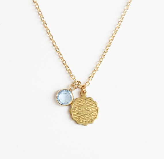 Zodiac & Birthstone Necklace